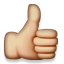emoji people:thumbsup